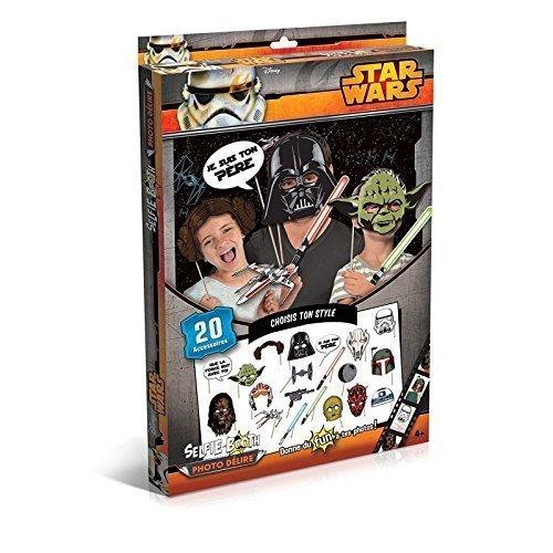 Star Wars Partyfun und Partygag / Selfie / Photo Verkleidungs Kit / Star Wars Masken am Stab mit Lichtschwert oder (Maske Leia Prinzessin)