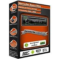 Mercedes Vito coche estéreo unidad central, Kenwood CD MP3Reproductor con USB en la parte delantera Aux en