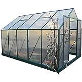 9m² PROFI ALU Gewächshaus Glashaus Treibhaus inkl. Stahlfundament u. 4 Fenster, mit 6mm Hohlkammerstegplatten - (Platten MADE IN AUSTRIA) inkl. 2 autom. Fensteröffner von AS-S