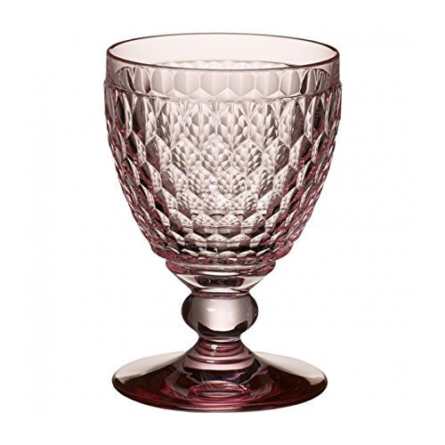 Villeroy & Boch Boston Coloured Verre à vin rouge Rose, 310 ml, Cristal, Rose