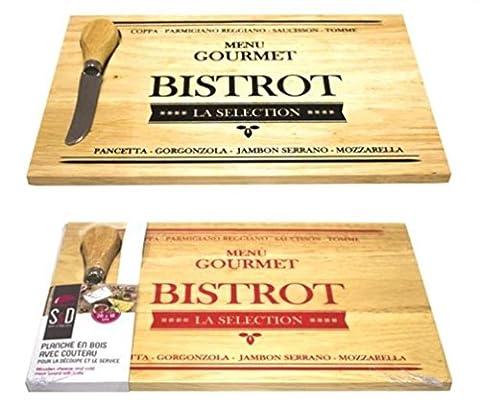 Les Bistrots - Planche à découper fromage charcuterie, plateau bois