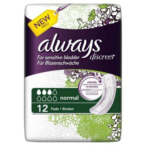 always-discreet-sensitive-bladder-normal-pads-12-per-pack-case-of-5
