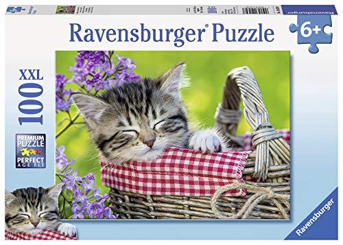 Ravensburger 10539 - Schlafendes Kätzchen (Große Puzzle-teile)