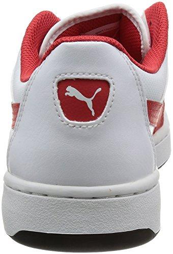 PumaPuma Rebound V.2 356725-01 Herren Schuhe Weiß - tempo libero Uomo Weiß (Weiß-Rot)