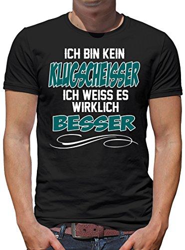 TLM Ich bin kein Klugscheisser T-Shirt Herren XXXXL Schwarz (Keine Tattoos)