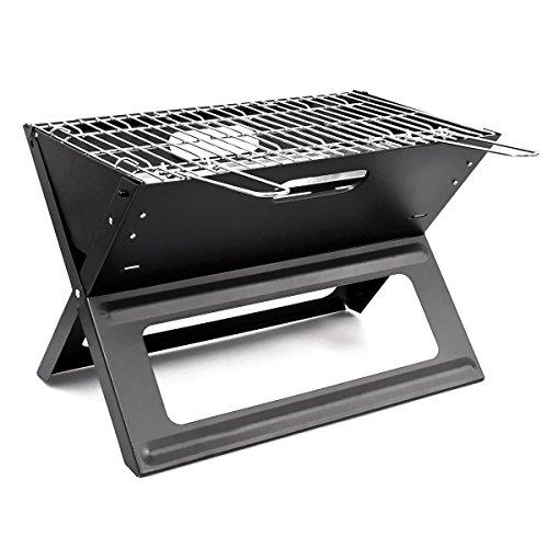 Girm® gs5760 barbecue griglia a carbone portatile e pieghevole 45,5x30x30,5 cm