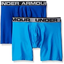 """Under Armour hombres Original de la serie 6""""Boxers–2–unidades - 1282508, Large, Royal/Brilliant Blue"""