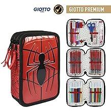 Cerdá Marvel Spiderman 2700000221 Astuccio 3 Scomparti, Bambino, 19cm, 43 Accessori Scuola