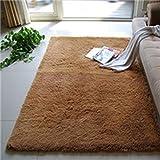 Capelli di seta tappeto soggiorno tavolino da caffè Camera da letto Letto anteriore coperta Finestra della baia tampone bagno tappeto , camel , 0.4*0.6 meters