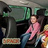 [3 Pack] Pare-Soleil Fenêtre de Voiture Auto Bébé - TOPELEK Couverture de Fenêtre de Voiture Enfant - Refletant Rayon et Absorbant les Rayons Utraviolets