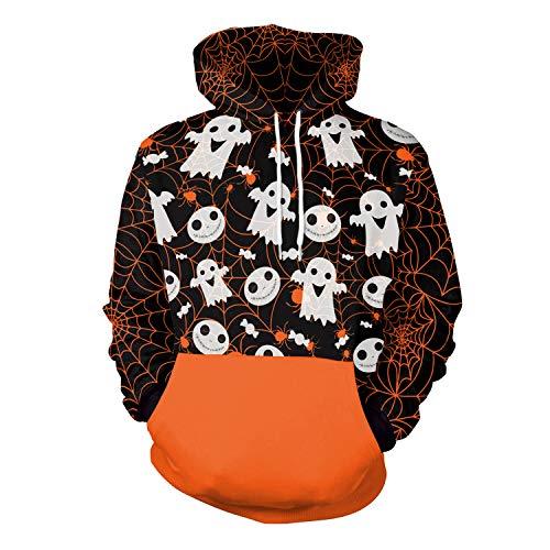 Halloween-Kostüme Neue Unisex COS Horror 3D-Digitaldruck Kapuzenpullover Hoodie mit Langen Ärmeln Galaxy bunten Hoodie Hoodie Sweatshirt Kapuzenjacke (Kostüm Box Größentabelle)