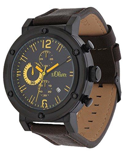 s.Oliver Men Watch Chronograph dark brown SO-15159-LCR