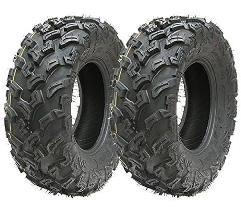 2 - Quad Reifen 26X9-12 6ply ATV Reifen 7psi E markierte Straße legale Reifen