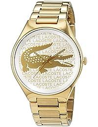 Damas-reloj Lacoste acero inoxidable recubierto de Valencia del análogo de cuarzo 2000930