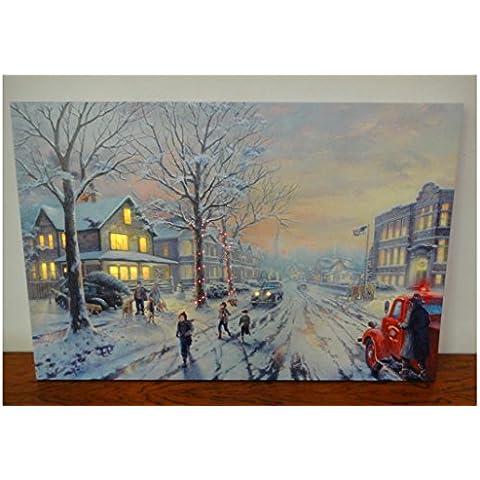 XYXY Pittura decorazione LED Lighted Galleria avvolto tela Art Home Decor Natale paesaggio . 30*40