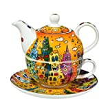 Goebel - Tea for One City Sunset 0,35 l 3-Teiliges Set