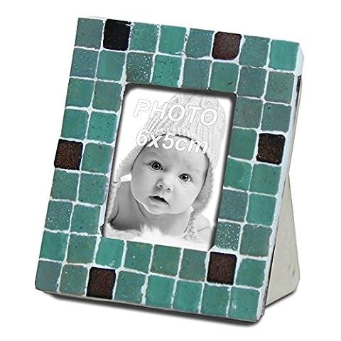 Kit de mosaïque, cadre photo, Vert clair, 9x8CM
