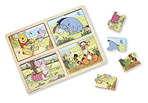 Melissa & Doug  Winnie The Pooh My First Wooden Peg Puzzle (16 Pieces)