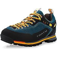 Gomnear de los hombres Botas de montaña Baja arriba Trekking Zapatos Antideslizante Ante Para caminar Alpinismo Zapatilla