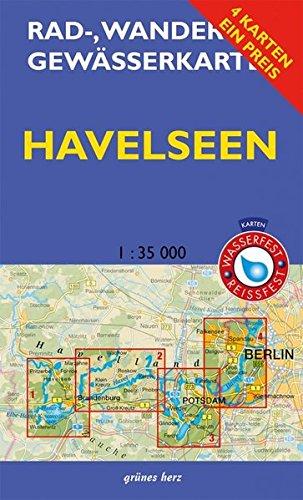 """Rad-, Wander- und Gewässerkarten-Set: Havelseen: Mit den Karten: """"Havelseen 1: Brandenburg/Havel"""", """"Havelseen 2: Beetzsee bis Ketzin"""", """"Havelseen 3: ... und Gewässerkarten Berlin/Brandenburg)"""