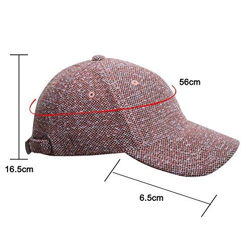 Sidiou Group chapeau de femme bicolore chapeau tricoté Casquette chaud de baseball Casquette à la mode Chapeau décontracté de plein air Rose Clair