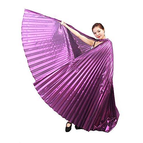 Ukamshop 1PC Ägypten Bauchtanz -Kostüm Flügel Bauchtanz Zubehör Maskenspiel Keine Sticks (lila)