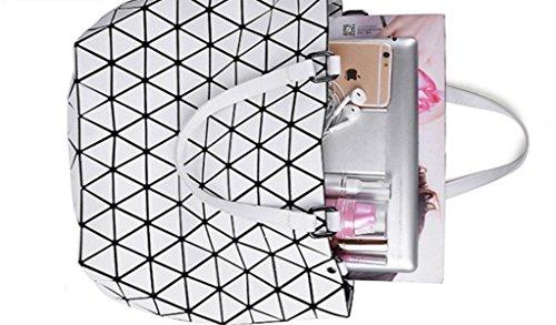 FZHLY Borsa A Tracolla Nuovo Pieghevole Opaca Borsa Secchiello Coreana Moda,Pink White