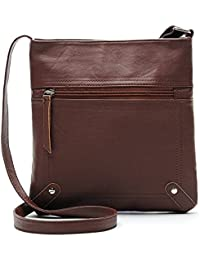 Ybyt Lightweight Classical Pu Leather Purse Small Crossbody Bags For Women (Brown)