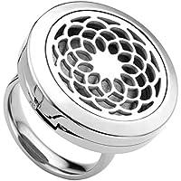 JOVIVI Schmuck Set,Edelstahl Finger Ring Ätherische Öle Diffusor Ring Chakra Kronenchakra Symbol Locket Ringe... preisvergleich bei billige-tabletten.eu