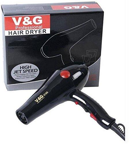 V&G Hair Dryer Professional 3100 Black Hair Styler Men/ Women
