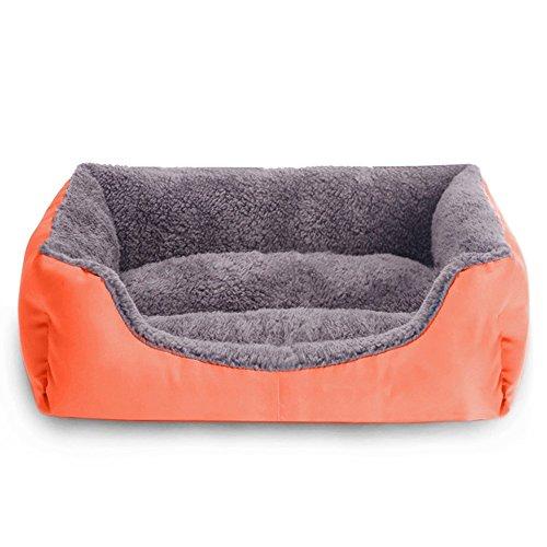 Cama para mascotas, cama para perros, cachorros, gatos, material suave y cálido para interiores.