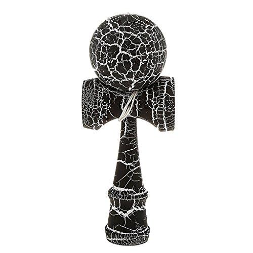 Kendama Geschicklichkeitsspiel mit schwarz/weißer Kugel Holzspielzeug Holz-Kugelfangspiel japanisches Geschicklichkeitsspiel Spielzeug von der Marke PRECORN