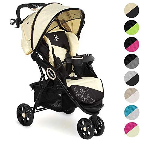 Froggy® Kinderbuggy DINGO Kinderwagen Buggy Jogger ultraleicht 5-Punkt-Sicherheitsgurt kompakt zusammenklappbar Liegefunktion Sonnenverdeck Beach