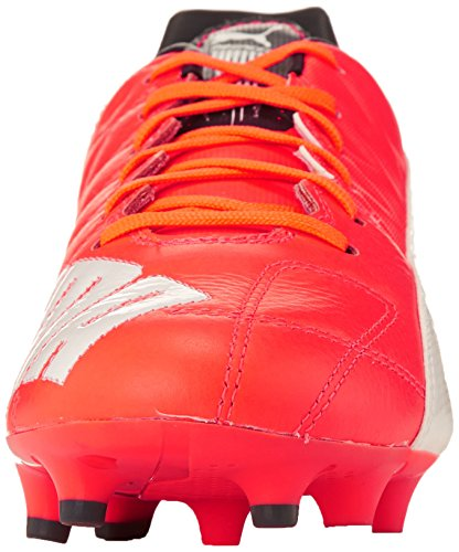 Puma - Evospeed 3.4 Lth Fg, Scarpe Da Calcio da uomo Arancione (Orange (lava blast-white-total eclipse 01))