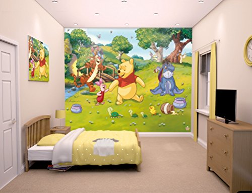 Familie24 XXXL Wandbild 243 x 305cm Auswahl Kindertapete Tapete Wanddekoration Wandbild Wandaufkleber Wandtattoo Feuerwehrman Sam Spiderman Minnie Micky (Disney Winnie Pooh) (Disney-management)
