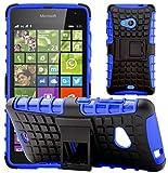 G-Shield Hülle für Microsoft Lumia 535 Stoßfest Schutzhülle mit Ständer - Blau