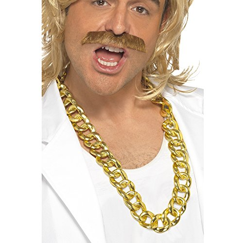 Smiffy's Big Chunky Necklace Hip Hop Rap Chain - Gold