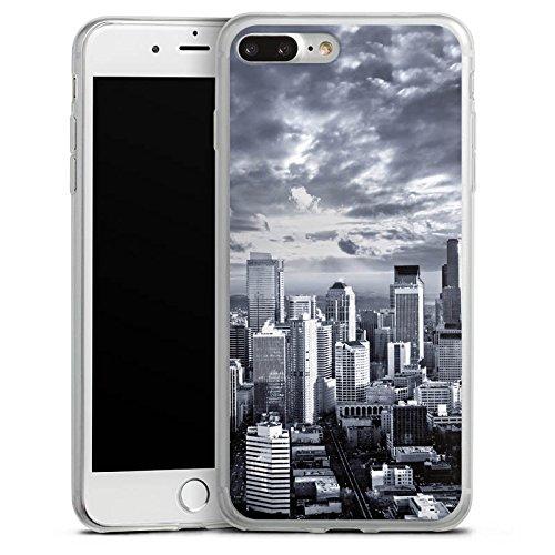 Apple iPhone X Slim Case Silikon Hülle Schutzhülle Skyline Stadt New York Silikon Slim Case transparent