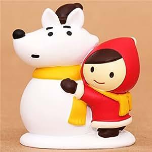 Figurine Petit Chaperon Rouge, le loup en bonhomme de neige