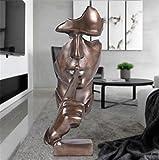 Scultura Ornamento Europeo Moderno Artigianato Decorazione Creativa Casa Astratta Carattere Arte Resina,Copper