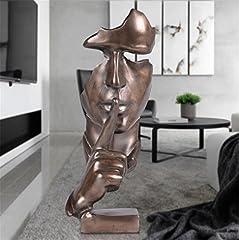 Idea Regalo - Scultura Ornamento Europeo Moderno Artigianato Decorazione Creativa Casa Astratta Carattere Arte Resina,Copper