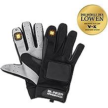 Blinkerhandschuh von GTC | schwarz/grau | Stoßfeste & wasserabweisende Blinkereinrichtung | LED | Ideal für Fahrradfahrer, Inlineskater, Skateboarder |