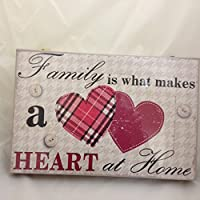 Canvas Wall Art Print (30cm x 30cm) -Family is what makes a heart at home