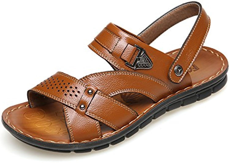 Sandalias De Playa para Deportes Zapatos De Cuero Ocasionales para Exteriores Zapatillas Sandalias De Verano
