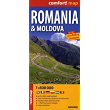 Romania & Moldova 1 : 800 000: Up-to-date road network, road numbering, distances in kilometres, shaded relief, national parks, 11 000 towns and villages, index of names. ExpressMap (Express Maps)
