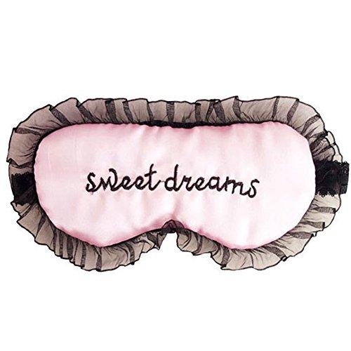 fablcrew Schlafmaske mit Spitze zu Hause oder Reisen für Damen, Rosa