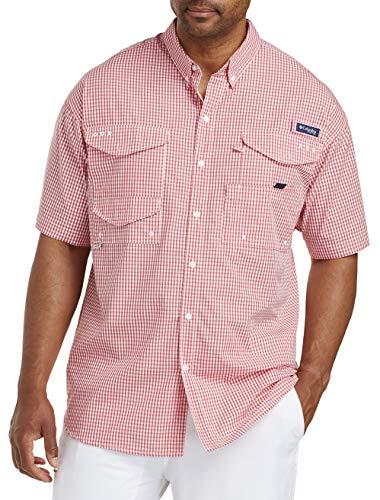 Columbia Herren Super Bonehead Classic Short Sleeve Shirt Bluse, Sunset Red Gingham, 3XT