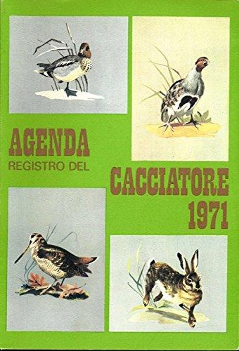Agenda registro del cacciatore 1971.