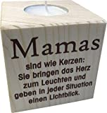 Teelichthalter Mama 8cm - toller Kerzenständer für Mama zu Weihnachten