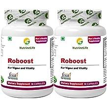 NutrineLife Testosterone Booster for Men with Shilajit, Ashwaganda, Tribulus Terrestris, Safed Musali- 90 Veg Capsules (Pack of 2)